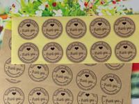 adhesive self label - 2000PCS cm Kraft Sticker Labels Thank You love self adhesive stickers kraft label sticker DIY Hand Made Gift Cake Candy