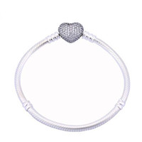 Wholesale 925 Silver Plated Bracelet Snake Chain with Barrel Clasp Fit European Beads For Pandora Bracelets Without Logo DIY