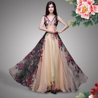 art samples - New Evening Gowns Real Sample Mixed Styles Floor Length Long Floral Print Flowers Beach Prom Dresses Formal Evening Gowns