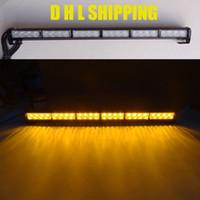 emergency light bar - 24 LED quot Amber Emergency Warning Traffic Advisor Flash Beacon Strobe Light Bar DHL