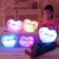 Wholesale Birthday Gift LED Night Flash Light Led Light Pillow For Kids Valentine s Day Gift Led Light Cushion Kids Toy for Christmas KF440
