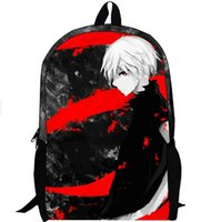 animate school - New hot sale Tokyo ghoul bag students animated cartoon backpack Middle and primary school backpack Anime peripheral