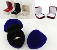 Wholesale Three Styles Jewelry Boxes For Girlfriend Engagement Wedding Rings And Necklace Hold Boxes Cheap GIfts Jewelry Boxes