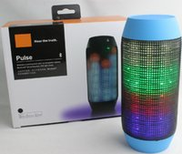 Wholesale Pulse Mini Speaker wireless Bluetooth Streaming Speakers Audio music play with Built in LED Light NFC Colorful Xmas Christmas Gift