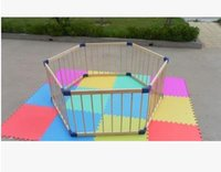 baby playpen - 6 pieces children playpen baby safety fence fence crawling baby pet isolation door bar stairs protection