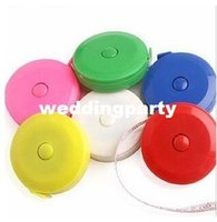 Wholesale mix color Plastic Clothes tape measure Tape Measures Home tool clothing size Soft feet Automatic retractable