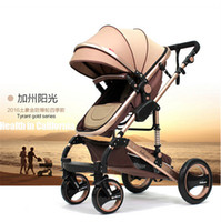 baby wheel chair - Infant bies baby stroller folding two way shock absorbers four wheel baby stroller landscape high strollers pushchair chair