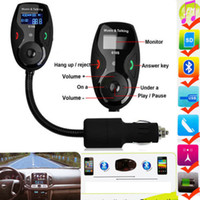 Wholesale Car Kit Handsfree Bluetooth FM Transmitter Modulator LCD Display Flex MP3 Player