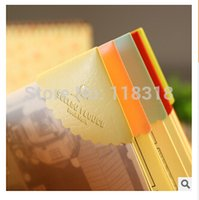 Wholesale Sets different styles PU Bookmark Colorful bookmarks Set Wedding Souvenirs Book Marker