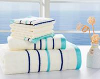 bamboo bath accessories - 70 bamboo towel set pc bath towel face towel printed striped bathroom accessories