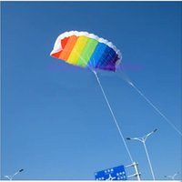 Wholesale E79 New M Dual Line Stunt Parafoil Kite Power Soft Parachute Rainbow Sports Kite For Beginner Promotion