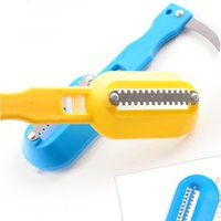 Wholesale Kitchen Tool Fast Cleaning Fish Skin Steel Fish Scales Brush Shaver Remover Cleaner Descaler Skinner Scaler Knife Tools