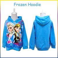 Wholesale Frozen Girl Anna Elsa Princess Hoodies Kids Sweater Children Autumn Long Sleeve Cotton Coat Hooded Children