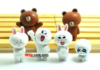 apps toy - Line town Apps Brown Bear Cony Rabbit figures toys set Cartoon Anime