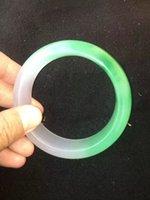 nature green jade bracelet - NATURE GREEN Jade Jadeite Bracelets Hand Carved Bracelets Jewelry Size52 Good quality