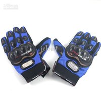 Wholesale 15pcs Motorcycle Bicycle Bike Full Finger Gloves Motor Racing Nylon Finger Gloves Sports Wear Racing Equipment Red Blue