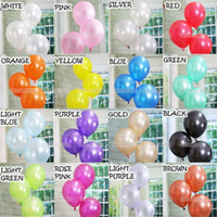 Wholesale New Color random Birthday Wedding Baby Party Pearl Iridescent Color Latex Balloons quot MIX Color