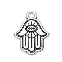antique coptic - 100pcs Religious Evil Eye and Coptic Charm Jewelry Antique Silver Plated For Jewelry Making