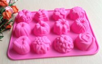 Wholesale Flower Fondant Cake pan Candy Soap Silicone Mold Baking Pan Cake Decoration