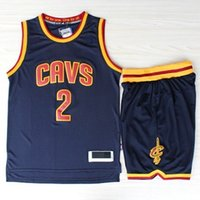 100% cotton suit - Cleveland New Arrival Mens Jersey Shirts Sets Kyrie Irving Jersey Shorts Pant Suits Retro Throwback James Authentic Jerseys HOT SALE