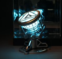 babies toy chests - new Iron Man Tony Stark power reactor iron man chest lamp gift for friend action figure baby toy