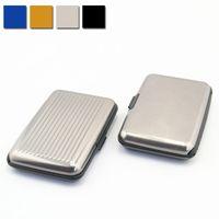 Wholesale New Business ID Credit Card Holders Waterproof Aluminum Metal Holder Wallet Pocket Case Box ZC0072 Kevinstyle
