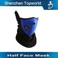 beanie half helmets - Best Quality Neoprene Neck Warm Helmet Half Face Mask Winter Veil For Outdoor Sports In Stock deal