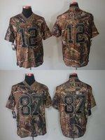 camo football jerseys - Men s Camo Realtree Elite Jersey Patriots Tom Brady Rob Gronkowski Stitched on Number Name Drop Ship