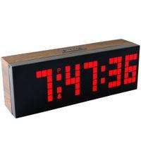 backlight board - Large LED Display Board Big Digital Led Alarm Clock Calendar Table Clock Brightness Control Wall Clock