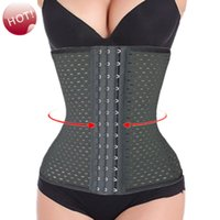 Wholesale Women s Steel Bone Corset Slimming Waist training corsets Underbust cincher waist trainer body shaper Bustier S XXL Black
