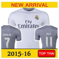 Nueva fuente Ronaldo Soccer Jersey 15 16 Nueva Temporada Camisetas Real Madrid Tailandia Calidad Fútbol Ropa más barato del equipo del club jerseys hombres de encargo