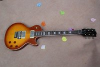 best guitar tremolo - The Best Quality AAA solid Mahogany Sunset color flame maple top electric guitar With Floyd Rose Tremolo In Stock