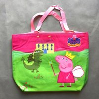 leather duffel bags - Retail New Fashion cartoon pig Travel Pouch WaterProof Unisex Travel Handbags Women Girls Travel Bag Folding Bags beach bags Duffel Bags