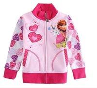ouwear - 2015 New Popular Winter Girl Jackets Anna Princess Lovely Embroidery Children Coat Ouwear Fleece M Age Baby Frozen Coats