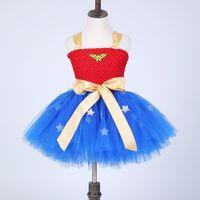 baby girl holiday dress - Kids Batman Superman Dresses Cosplay vestidos de fantasias infantil Ball Gown Dress For Girls Infant Baby Cosplay Costume tutu dress