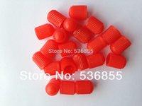 Wholesale Red color plastic Car wheel Tyre Tire Valve Cap air dust stem VC8 polybag V1 inner thread