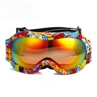 Wholesale Brand New kids children snowboard goggles double lens anti fog ski goggles UV400 protect ski eyewear professional snow glasses
