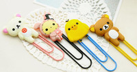 Wholesale creative office supplies super cute Easy to bear chicken sorrow sorrow rabbit a bookmark large paper clips15090105