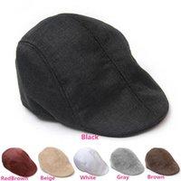Wholesale New Arrivals Men Women Outdoor Flax Hats Vintage NewsBoy Berets Flat Caps For Winter Autumn PX176