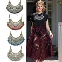 big chunky chain necklace - brand chain necklaces pendants vintage maxi rhinestone collar fashion big bib chunky choker statement necklace for women jewelry N298