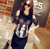 The entire single beauty maps - 2015 summer new loose T Shirt Size Korean strapless dress female beauty map printing
