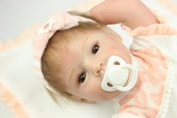 Wholesale Hot Sale New Reborn Baby Doll Soft Silicone Vinyl Real Gentle Touch Newborn cm Magnet Pacifier