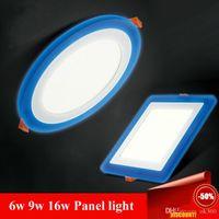 al por mayor cambiar las bombillas downlight-Tres modos de cambio de 6w 9w 16w panel LED Downlight AC85-265V blanca caliente / fría ahuecado abajo de luces de la sala de iluminación LED del bulbo del CE ROHS