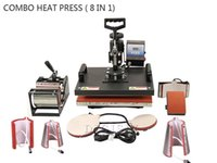 t-shirt printing press machine - 110V V Plate Mug Cap T Shirt heat press heat transfer machine Sublimation printing machine digital In Combo Heat Press Machine