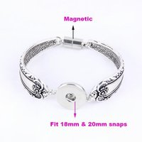 Wholesale New DIY Interchangeable gold and silver snap bracelet mm snap button bracelet jewelry