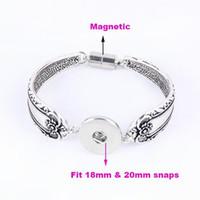 Wholesale New DIY Interchangeable gold and silver snap bracelet mm snap button bracelet jewelry