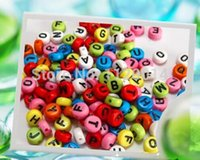 Wholesale 500 Mixed Alphabet Letter Acrylic Spacer Beads x7mm DIY Fashion Jewelry Finding HOT