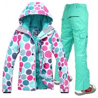 Wholesale Gsou snow K K waterproof snow sports clothing snowboarding jacket women warm cotton skiing jacket women