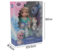 Wholesale 2015 High Quality Frozen fever Snow Glow Elsa Doll Toy With Music let it go and Light With Safe Material Best Gift For Girl B001