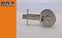 bathroom indicator bolt - Stainless steel solid bathroom thubm turn indicator indicating bolt bathroom hardware with lock KF493